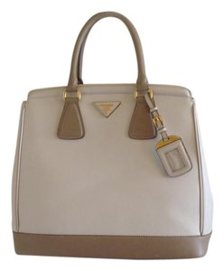 Prada Satchel in Ivory/Taupe