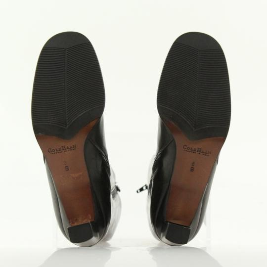 Cole Haan Leather Round Toe Tall Zip Closure Black Boots Image 10
