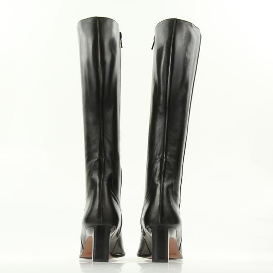 Cole Haan Leather Round Toe Tall Zip Closure Black Boots Image 2