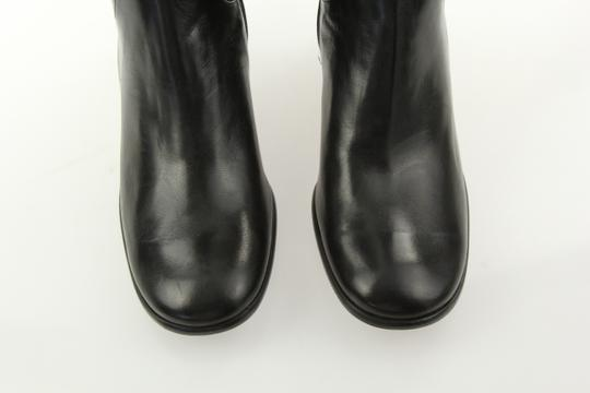 Cole Haan Leather Round Toe Tall Zip Closure Black Boots Image 6