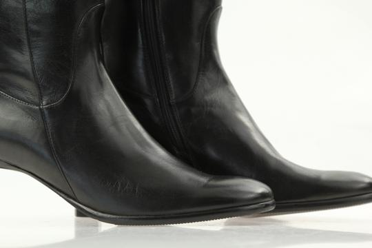 Cole Haan Leather Round Toe Tall Zip Closure Black Boots Image 7