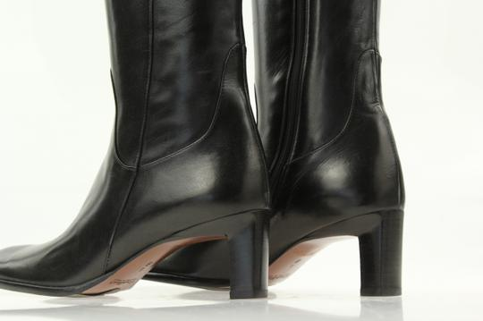 Cole Haan Leather Round Toe Tall Zip Closure Black Boots Image 9