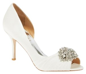 Badgley Mischka Ivory Satin Formal