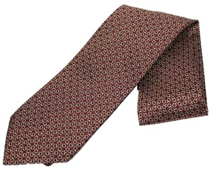 Gucci Gucci Horsebit Patterned Burgundy Red Men's Silk Tie 324856