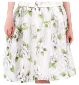 Gracia Floral Skirt White