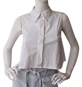 A.L.C. Crop Button Down Button Down Shirt White