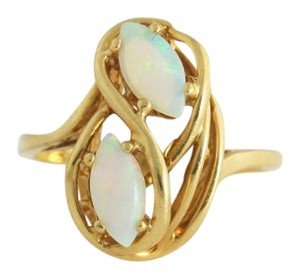Vintage 10k Gold Opal Ring Gemstone Jewelry