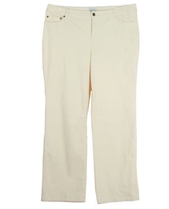 Charter Club Straight Pants Ivory
