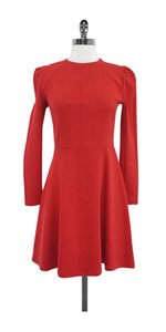 Carven short dress Red Cotton Blend Long Sleeve on Tradesy