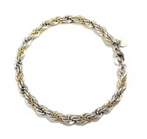 Tiffany & Co. Tiffany & Co Sterling Silver & 18K Gold Rope Bracelet