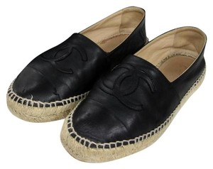 Chanel Graffiti Cambon Le Boy Caviar Black Flats