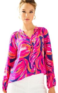 Lilly Pulitzer Top Plume Bloom