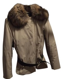 Prada Luxury Italian Fur Apres Military Jacket