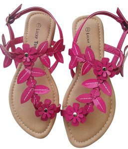 Lucky Top Sandal Size 10 Pink Flats