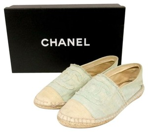 Chanel Graffiti Cambon Le Boy 2.55 Blue Flats