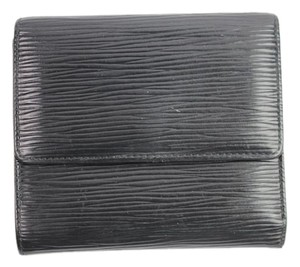 Louis Vuitton Black Epi Trifold Wallet 41LVA909
