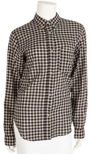 Isabel Marant Button Down Shirt Black & Cream