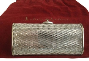 Judith Leiber Crystals Evening Tone Frame Tone Hardware Silver/Clear Clutch