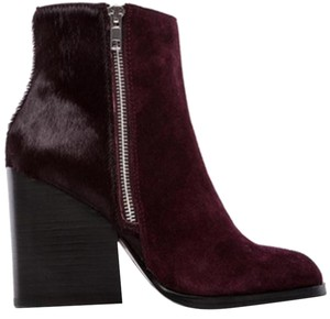 Steve Madden Peace Love And Shea Fur Sexy Wine Boots