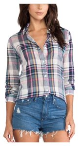 Rails Button Down Shirt Pink, blue and green