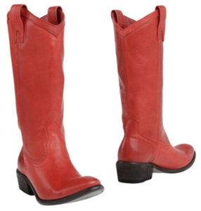 Frye Taylor Cowboy Red Boots