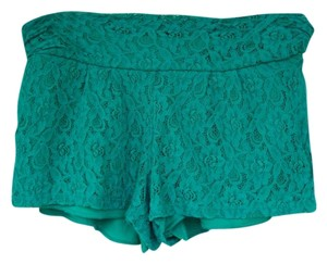 BeBop Lace Elastic Pockets Mini/Short Shorts green