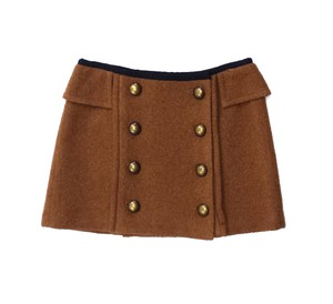 Nanette Lepore Rust Wool Button Up Mini Skirt
