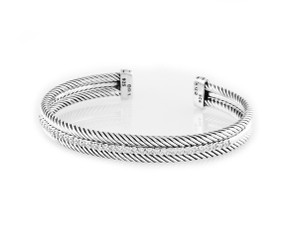 David Yurman Cable Single-Row Bracelet with Diamonds (Medium)