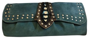 Betsey Johnson Blue Clutch