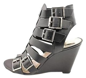 Vince Camuto Strappy Sandal Wedge Sexy Black Wedges