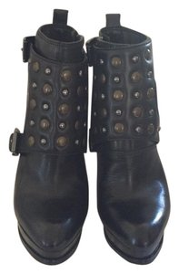 MICHAEL Michael Kors Studded Bootie Leather Black Boots