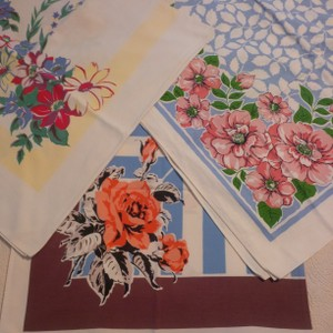 3 Vintage Tablecloth Overlays