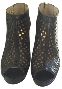 MICHAEL Michael Kors Mesh Leather Black Boots
