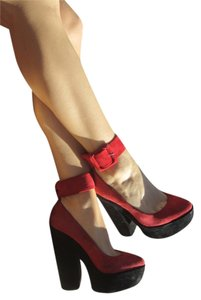 Dolce Vita Black and Red Platforms