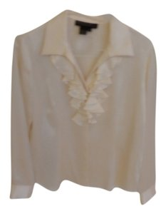 Lafayette 148 New York Layfayette Size 6 Top Ivory