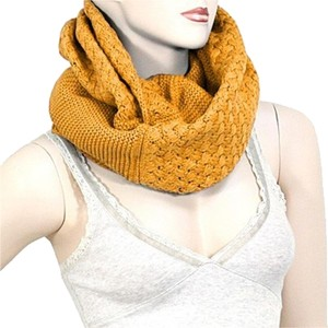Other Harvest Gold Infinity Round Knitted Scarf Sweater Neck Collar
