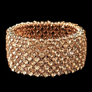 Elegance By Carbonneau Rose Gold Crystal Stretch Bracelet