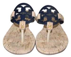 Tory Burch Navy blue and light brown Sandals