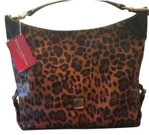 Dooney & Bourke Leather Satchel in Leopard Print