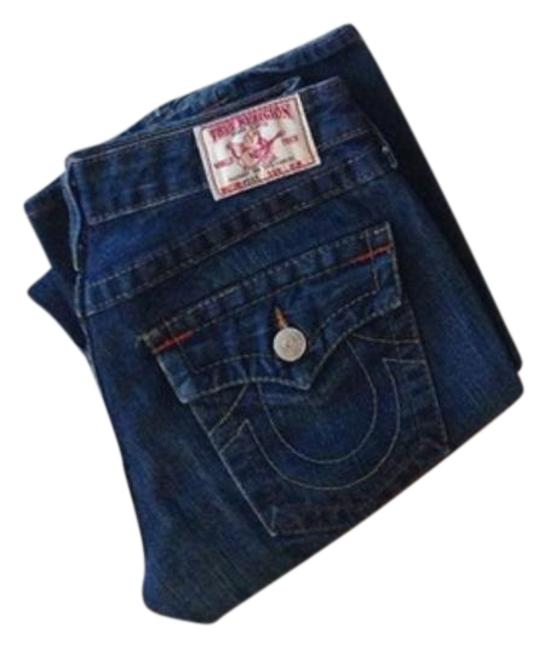 Item - Blue Distressed Big Rig Boot Cut Jeans Size 27 (4, S)