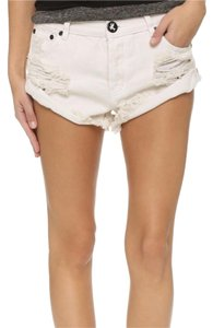 One Teaspoon Cuffed Shorts Worn white