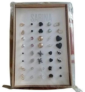 Other Multi-Colored Stud Earrings Gift Set - 20 Pairs