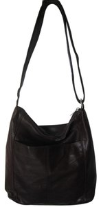 Rolfs Soft Leather Shoulder Chocolate Cross Body Bag