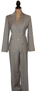 Brooks Brothers Grey and Taupe Pin Stripe Wool and Silk Suit