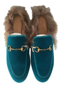 Gucci Teal Mules