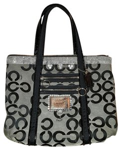 Coach Tote in Black/Gray
