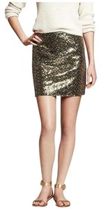 Banana Republic Mini Skirt Gold/green