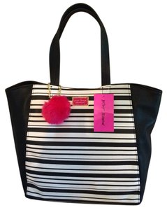 Betsey Johnson Tote in Black & White