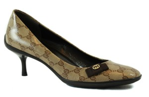 Gucci Crystal 317043 Beige/Ebony Pumps
