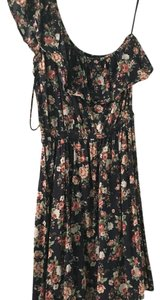 Cotton On short dress Navy blue, floral on Tradesy